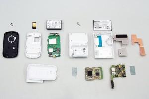 WM3300Rと日本通信 b-mobile WiFiの分解
